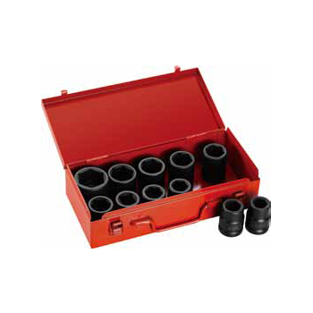 "3/4"" 12 Piece Metric Shallow Impact Socket Set"