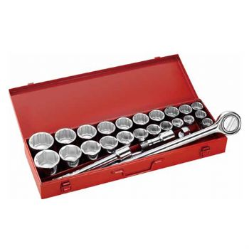 "27PC.—3/4""DR. HAND SOCKET SET"